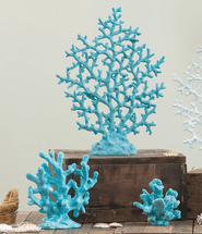 Oceania Blue Coral Reef Sculptures - Set of 3