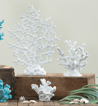 Oceania White Coral Reef Sculptures - Set of 3