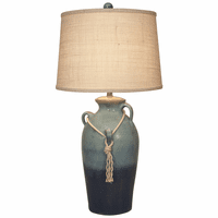 Oceanside Three-Handled Table Lamp with Rope Accent