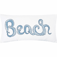 Octopus Adventure Beach Pillow