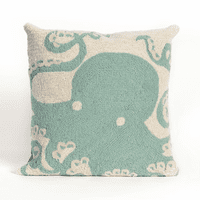 Octopus Aqua Indoor/Outdoor Pillow