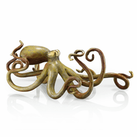 Octopus Brass Sculpture - Tan Hot Patina