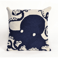 Octopus Navy Indoor/Outdoor Pillow