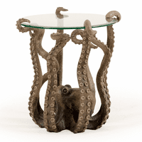 Octopus Pedestal Outdoor Side Table