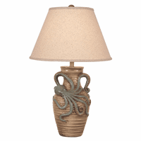 Octopus Ripped Table Lamp - Cottage