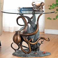 Octopus & Seagrass End Table - OUT OF STOCK UNTIL 12/11/2020