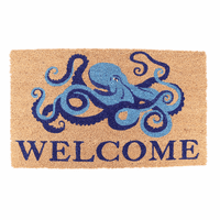 Octopus Welcome Coir Door Mat