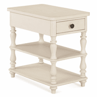 Off White Spindle Chairside Table