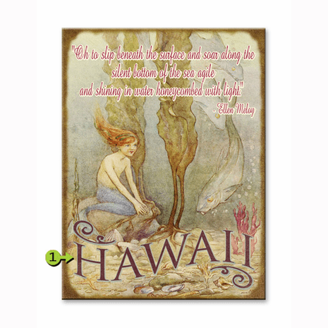 Oh to Slip Beneath the Surface Personalized Sign - 23 x 31