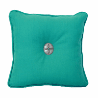 Old Country Turquoise & Sensu Mallard Accent Pillow