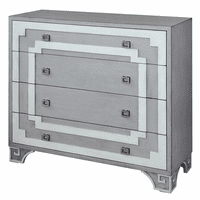 Olympia Gray and White Greek Key Chest