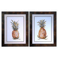 One Two Pineapple Framed Art - Set of 2