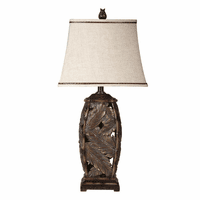 Open Work Bermuda Palm Table Lamp