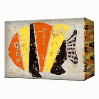 Orange, Black and Yellow Fish Aluminum Wall Art