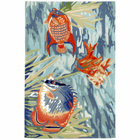 Orange Fish Trio Indoor/Outdoor Rug Collection