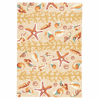 Orange Shell Surf Indoor/Outdoor Rug Collection
