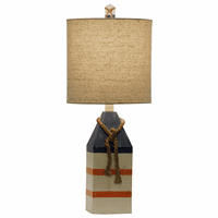 Orange Striped Buoy Table Lamp