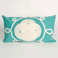 Ornamental Knot Aqua Pillow - 12 x 20