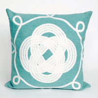 Ornamental Knot Aqua Pillow - 20 x 20