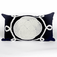 Ornamental Knot Navy Pillow - 12 x 20