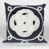 Ornamental Knot Navy Pillow - 20 x 20