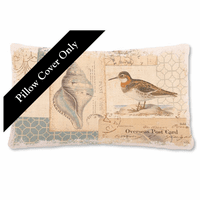 Overseas Post Card Pillow Cover