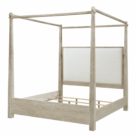 Pablo King Upholstered Canopy Bed