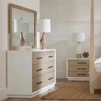 Pablo Six Drawer Dresser with Mirror