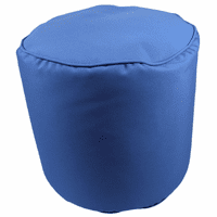 Pacific Blue Indoor/Outdoor Round Pouf