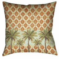 Pacific Palms 18 x 18 Outdoor Pillow