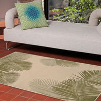 Pacific Palms Green Indoor/Outdoor Rug Collection