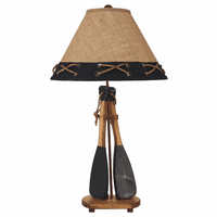 Paddle Table Lamp with Knotted Shade
