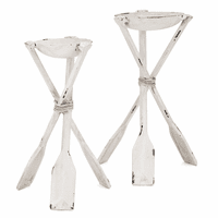 Paddle Trio Candle Holders - Set of 2