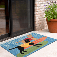 Paddleboard Pooches Indoor/Outdoor Rug Collection