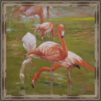 Painterly Flamingo I Framed Print