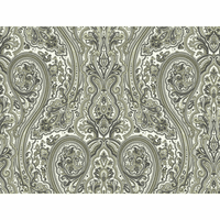 Paisley Wallpaper - Gray and Taupe
