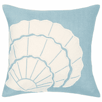 Pale Blue Shell Pillow