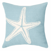 Pale Blue Starfish Pillow