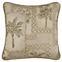 Palm Grove Square Pillow - OUT OF STOCK