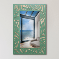Palm Leaves Border Wall Mirror