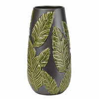 Palm Leaves Vase - Small - OVERSTOCK
