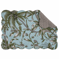 Palm Paradise Scalloped Placemats - Set of 6