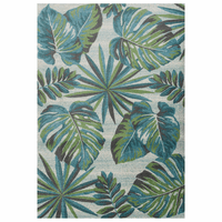 Palm Reef Green Rug Collection