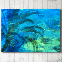 Palm Reflections Canvas Art