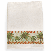 Palm Tile Bath Towel