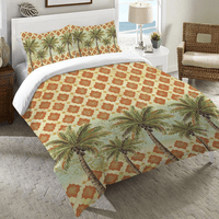 Palm Tile Duvet Cover - Queen