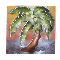 Palm Tree Frame Metal Wall Art