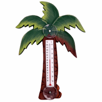 Palm Tree Small Window Thermometer