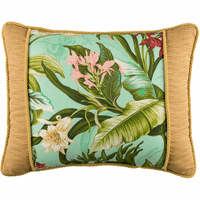 Paradise in Bloom Banded Breakfast Pillow