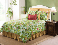Paradise in Bloom Comforter Set with 15 Inch Drop Bedskirt - Cal King